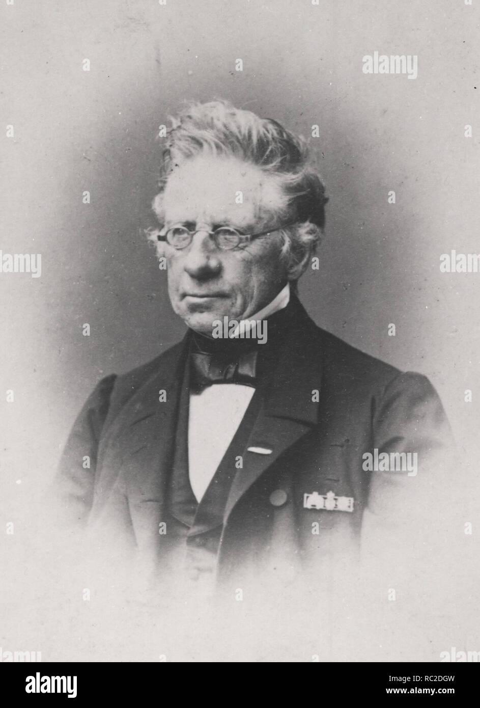 Christian Albrecht Bluhme (1794-1866) war Premierminister von Dänemark 1852 - 1853 Stockbild