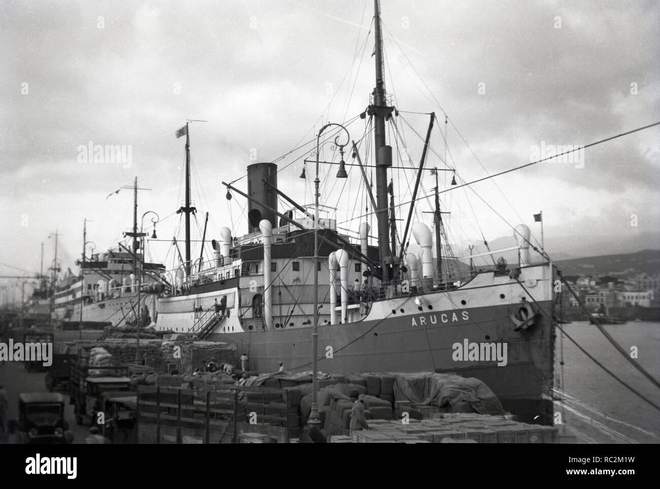 Deutsches Reich Frucht- und Passagierschiff Arucas Stockbild