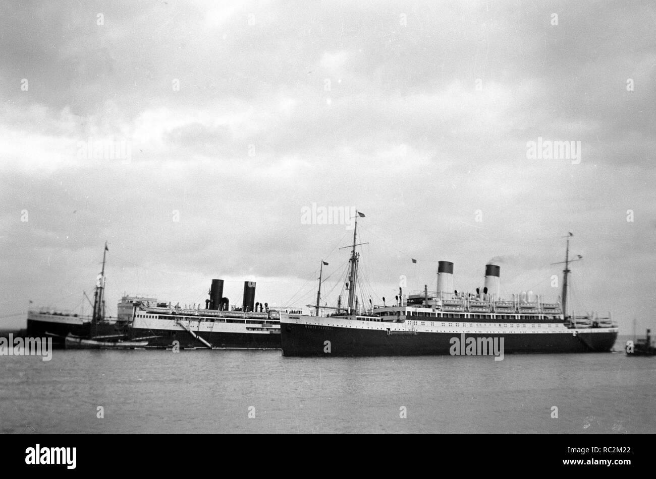 Deutsches Reich Passagierschiff der Monte-Klasse - Monte Pascoal Stockbild