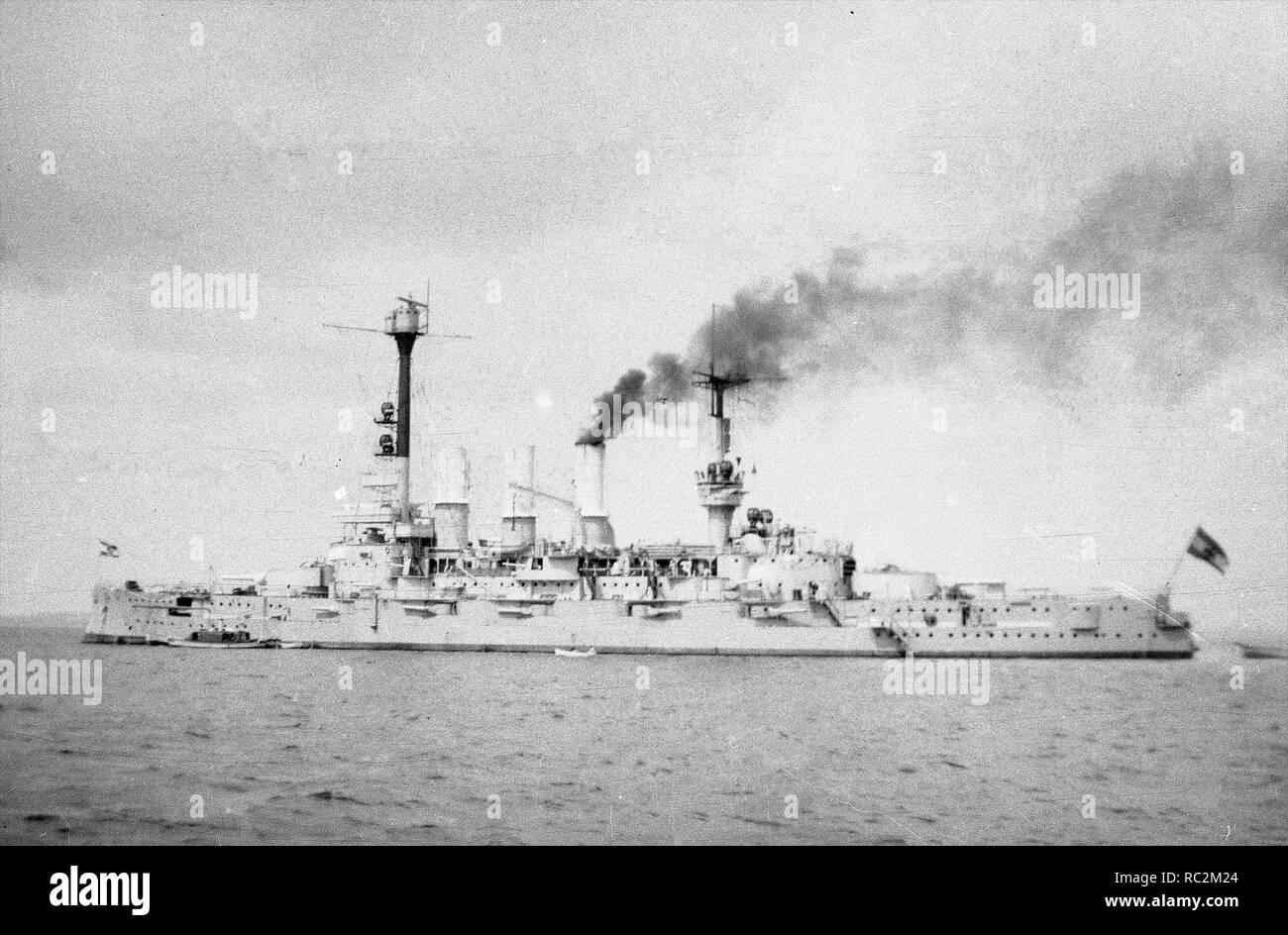 Deutsches Reich Reichsmarine Linienschiff Deutschland-Klasse Stockfoto