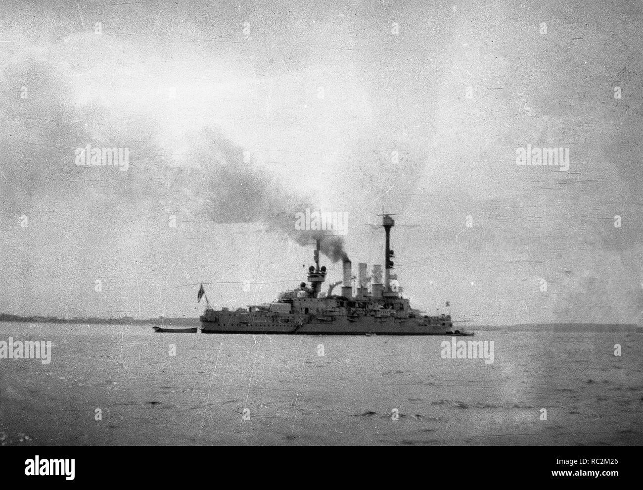 Deutsches Reich Reichsmarine Linienschiff Deutschland-Klasse Stockbild