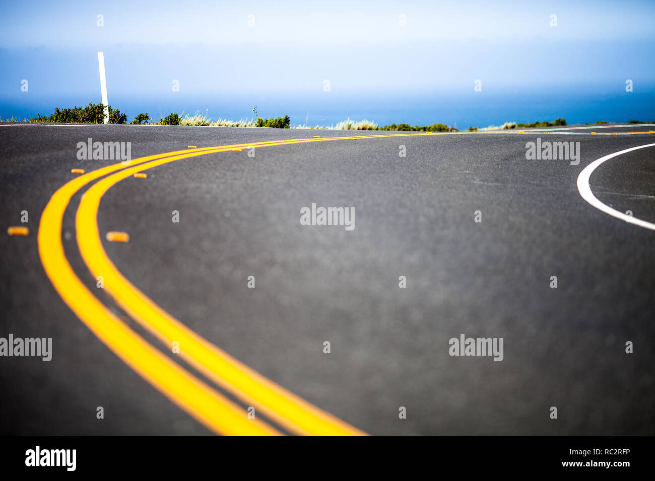 Abstrakte Sicht der Pacific Highway One, Marin County, Northern California, United States Stockbild