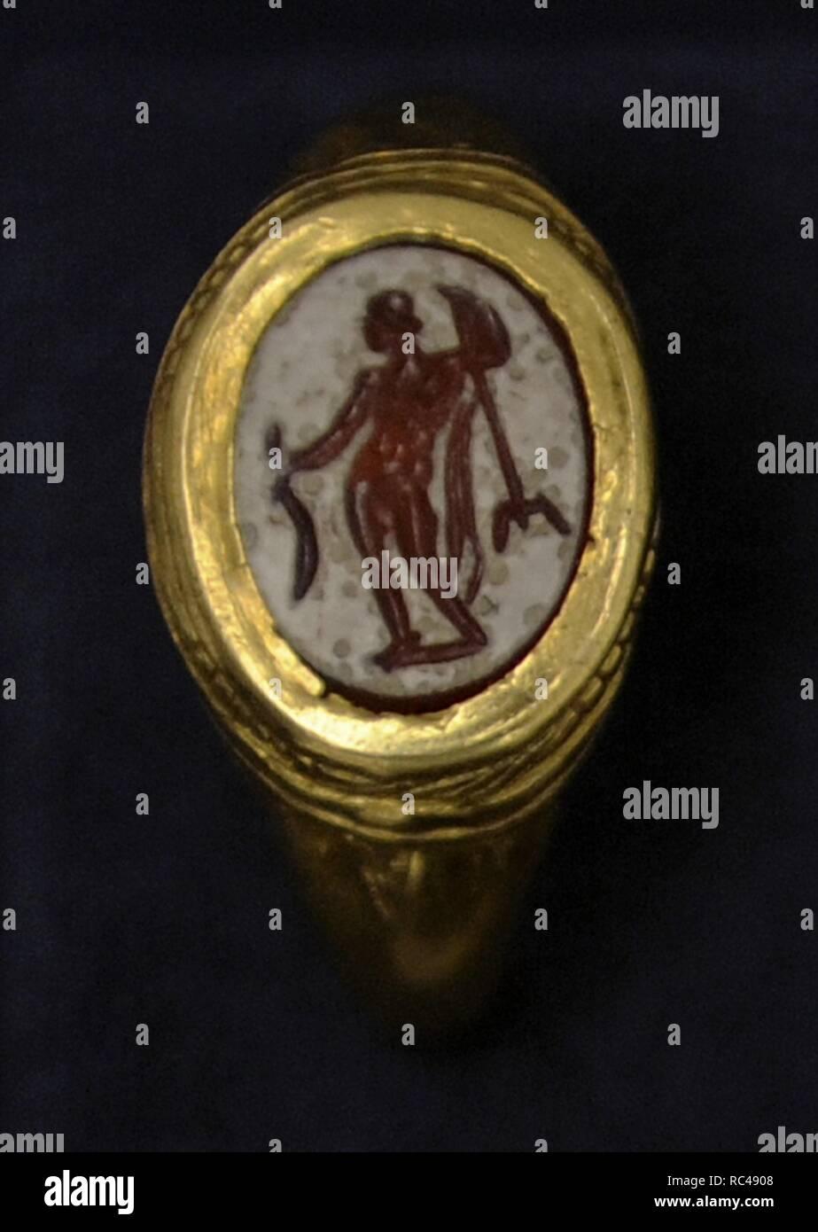 Gott Neptun zeigen einen goldenen Ring. 1-100. Museum der bildenden Künste. Budapest. Ungarn. Stockfoto