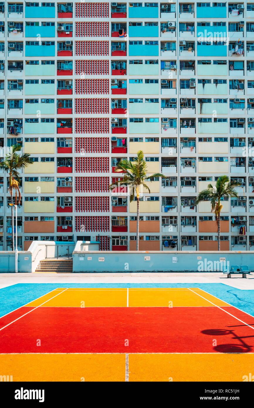 Basketball Court At An Estate Stockfotos & Basketball Court At An ...