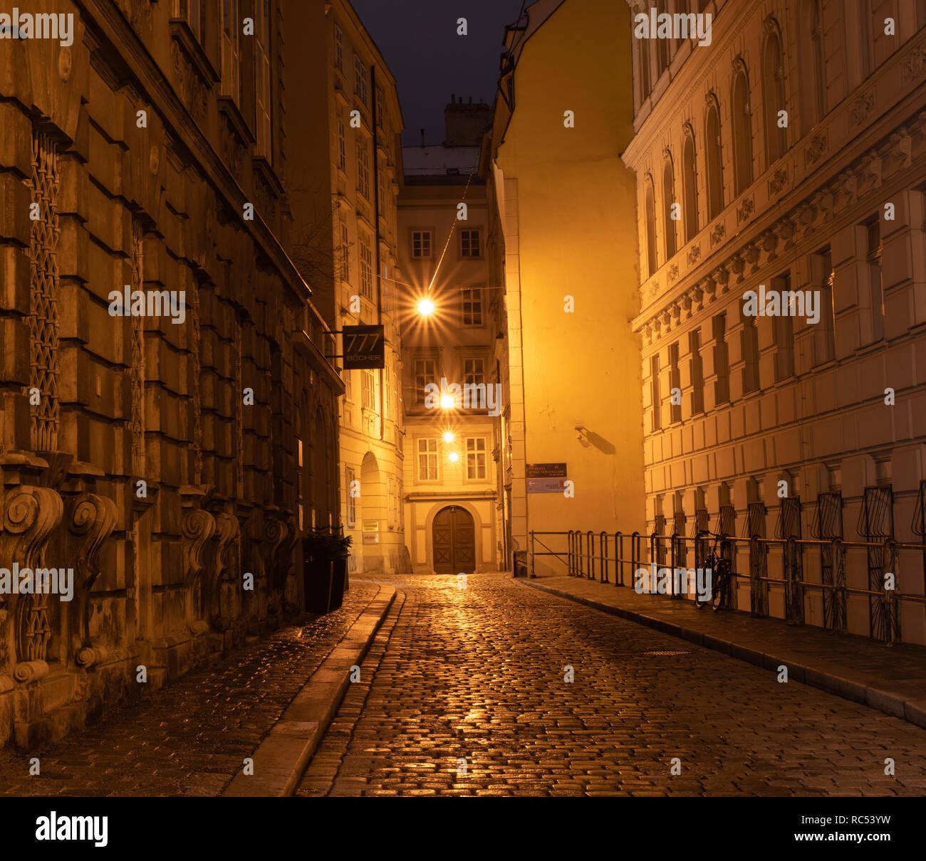 Domgasse, Wien Stockbild