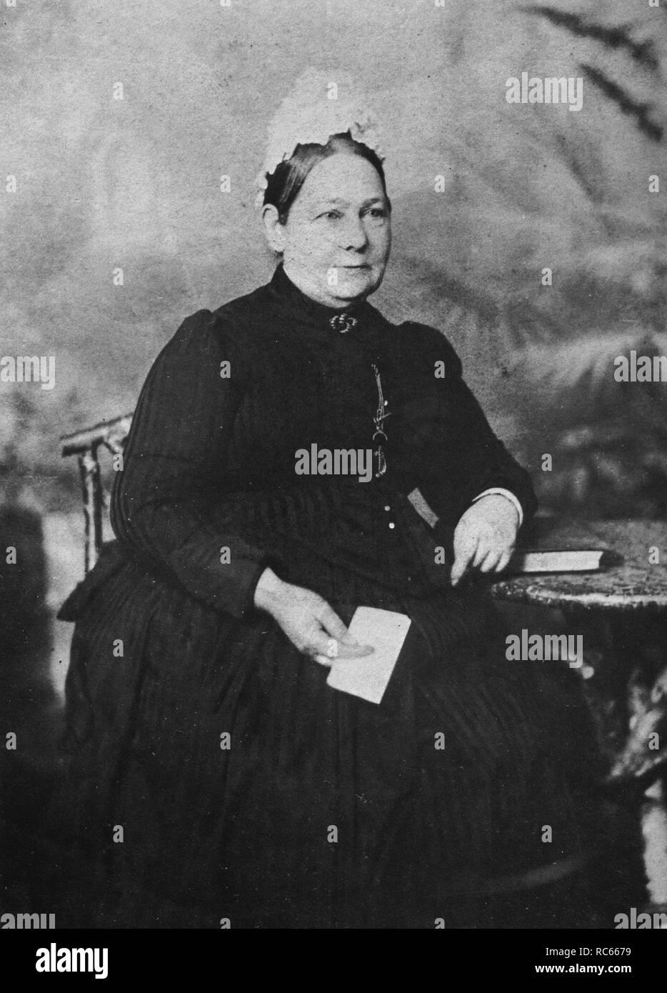 Winston Churchill's Schwester, Frau Everest Stockbild