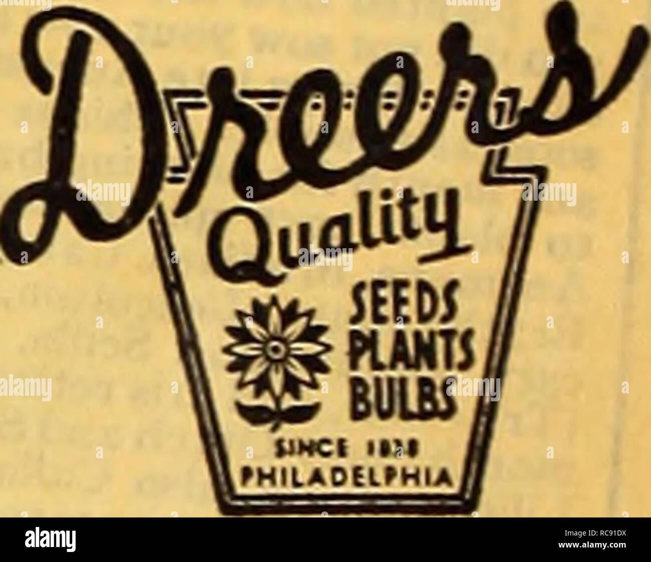 Gemeinsame Dreer ist Herbst einpflanzen Leitfaden für 1940. Die Glühbirnen #RK_97
