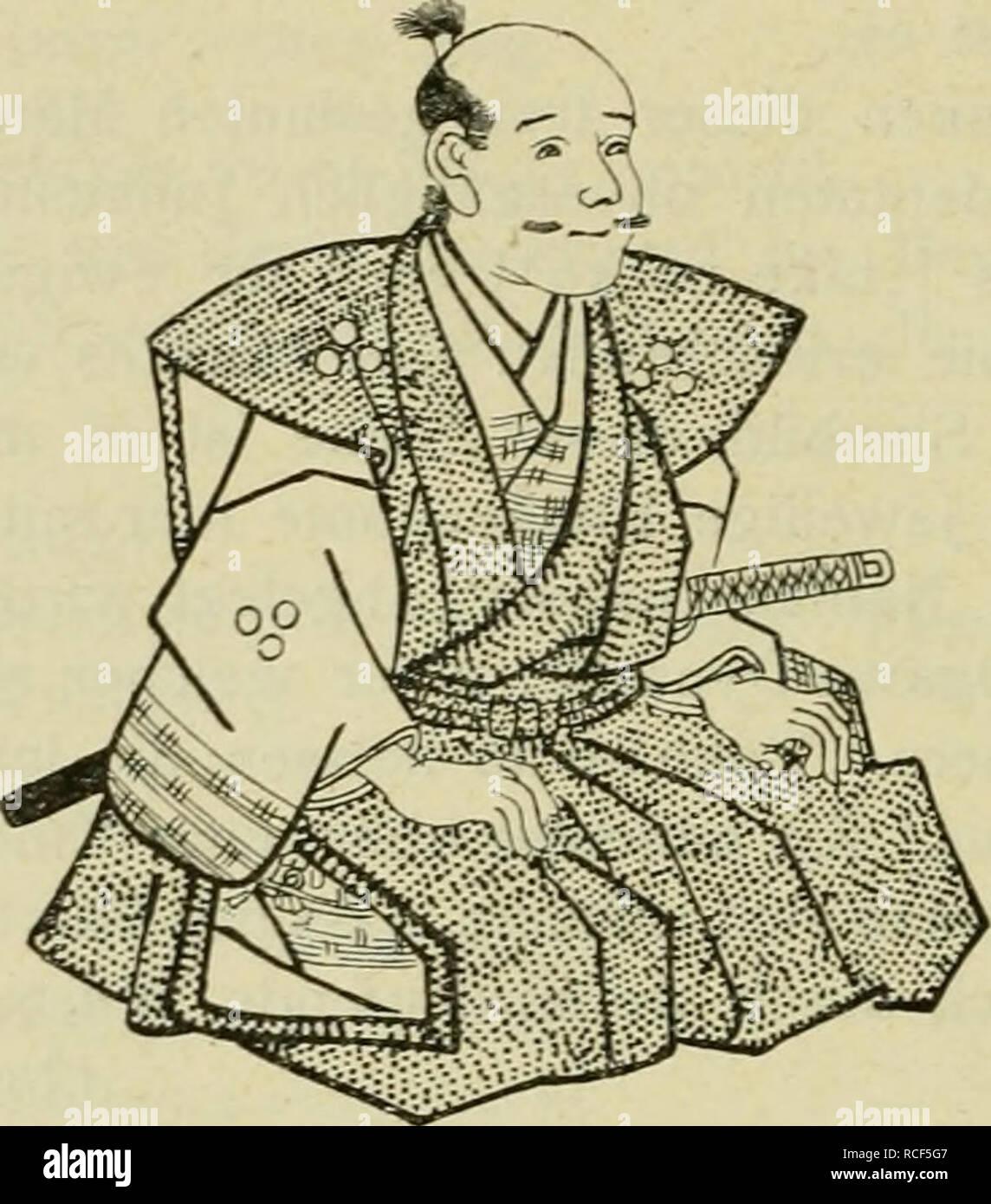 . Die Verwendung des Bambus in Japan und Katalog der Spörry'schen Bambus-Sammlung. 192 In der japanischen durchstöberten / habe ich keinen - Anstän digen Bambuswitz gefunden; dagegen einen berühmten Witzmacher, Sorori Shinzaemon, Vasall des Taiko-sama (1536-1598); da sitzt er:. Abb. -. 61. Sorori Shinzaemon.. Bitte beachten Sie, dass diese Bilder sind von der gescannten Seite Bilder, die digital für die Lesbarkeit verbessert haben mögen - Färbung und Aussehen dieser Abbildungen können nicht perfekt dem Original ähneln. extrahiert. Spörry, Hans, 1859-1925; Schröter, Karl, 1855-1939. Zürich: D Stockbild