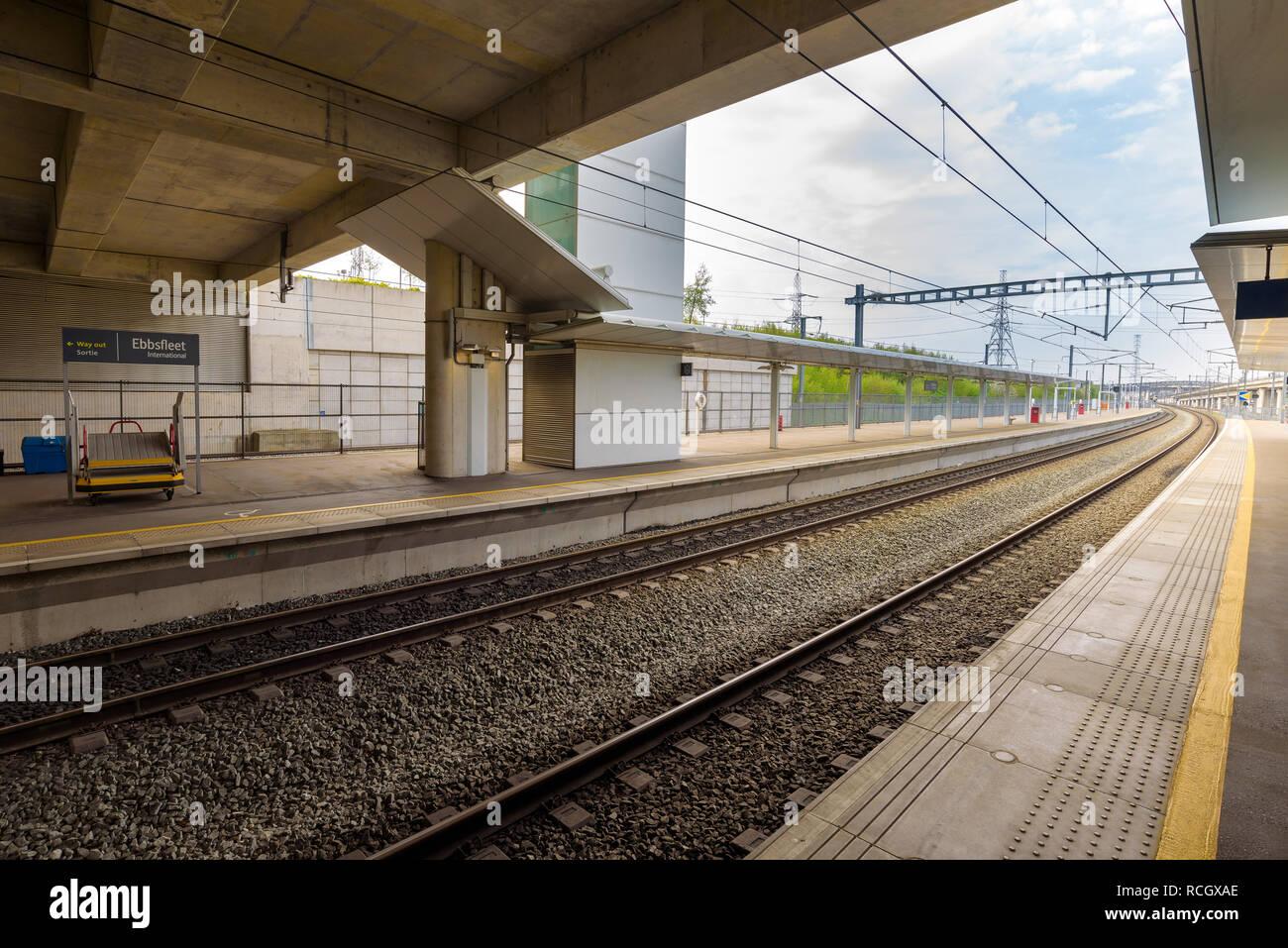 Bahnhof Ebbsfleet International Mit Dem Eurostar Und South