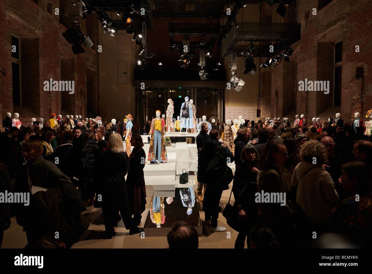Berlin, Deutschland. 15 Jan, 2019. Designer präsentieren ...