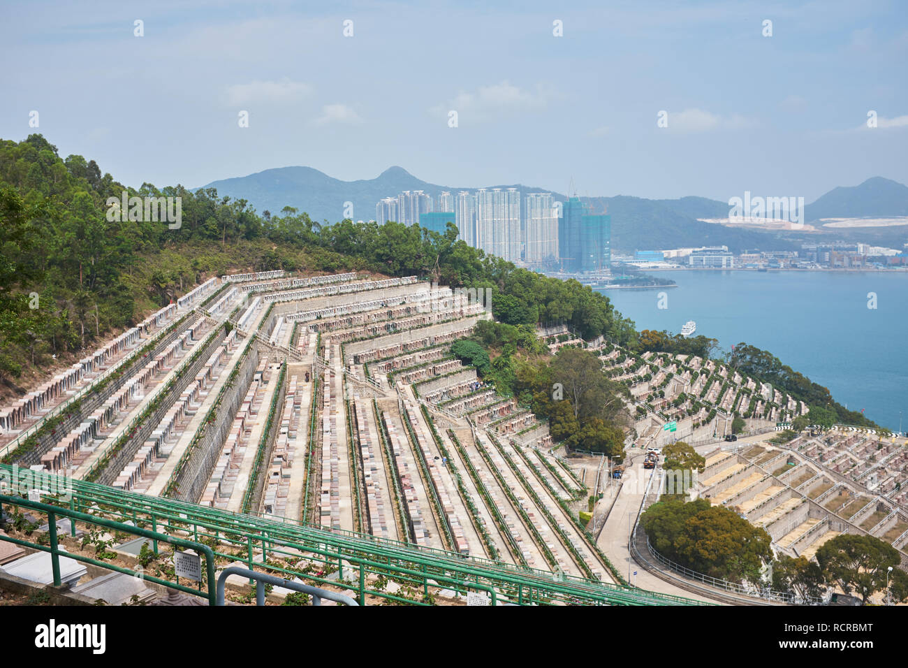 Tseung Kwan O Chinesische ständige Friedhof Stockbild