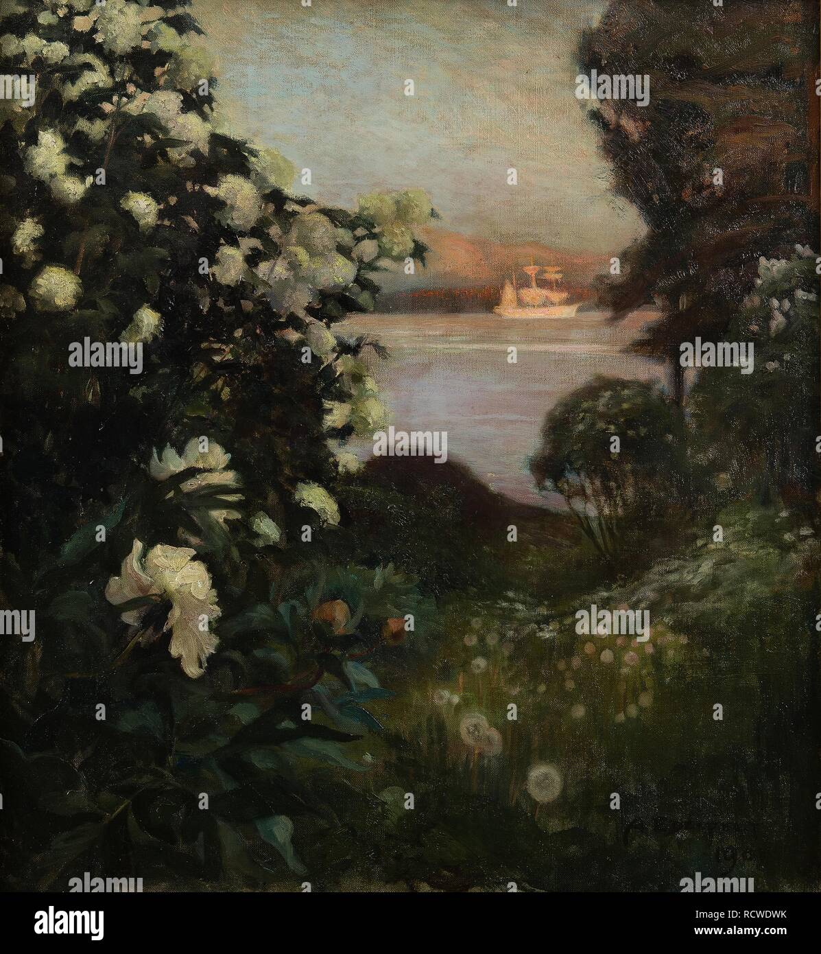 Blühende Bäume, haikon. Museum: private Sammlung. Autor: Albert Edelfelt, Gustaf Aristides. Stockfoto