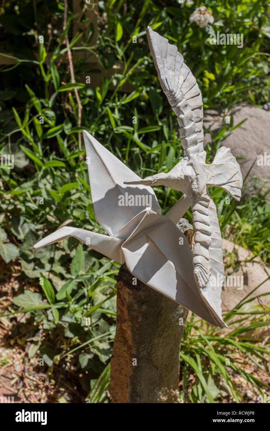 Skulptur Von Kevin Flug Der Falten Stockfotografie Alamy
