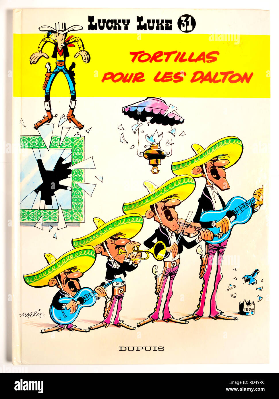 Lucky Luke Comic - Tortillas pour les Dalton Stockbild