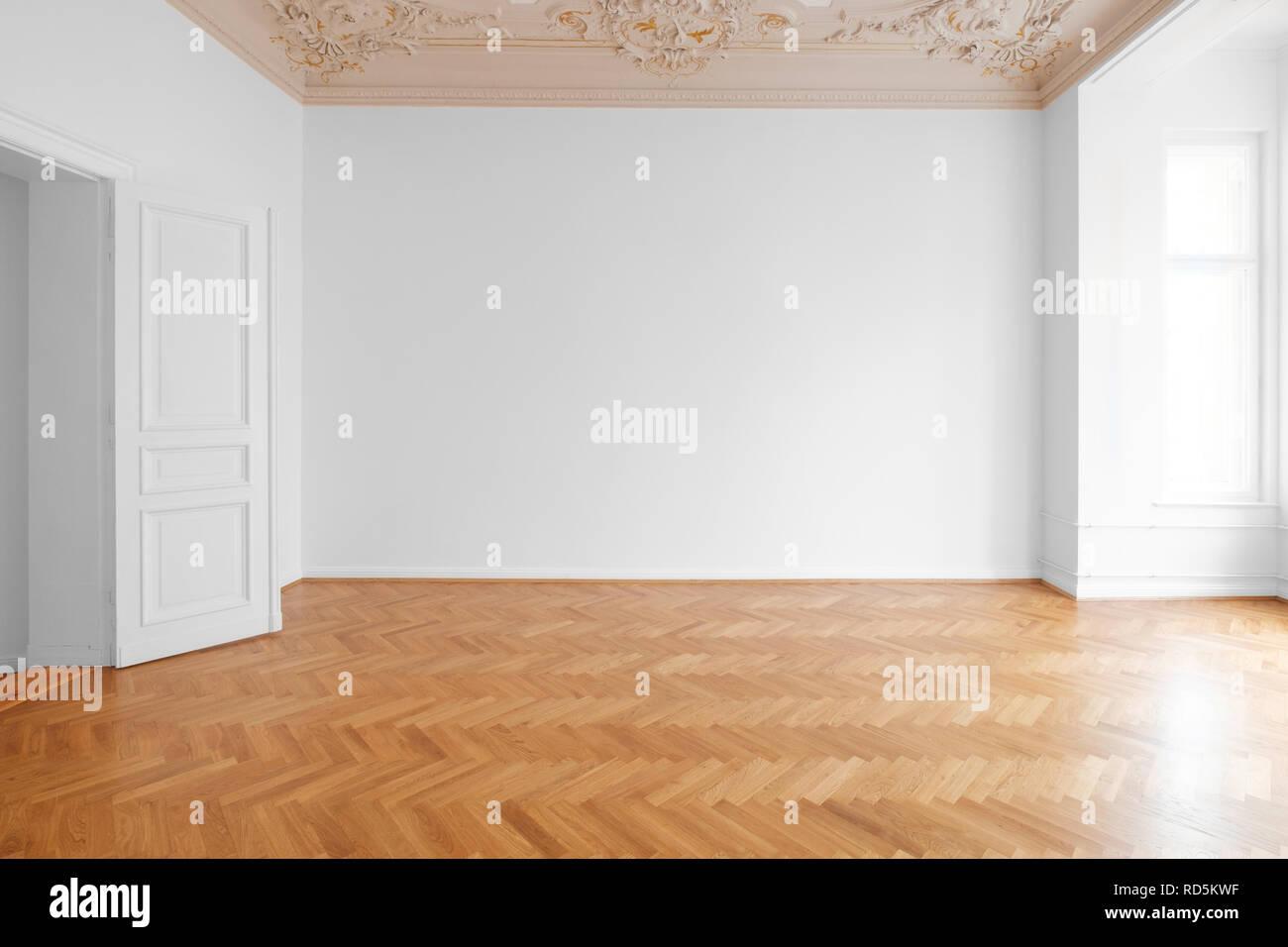 Turbo Weiße Wand Hintergrund in der leeren Wohnung Zimmer, Wohnung mit HP84