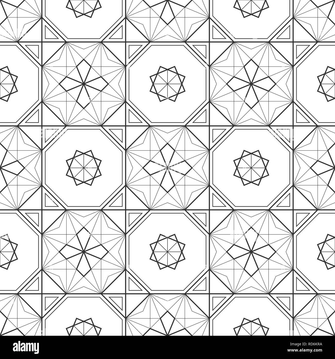 Abstrakte Geometrische Muster Bodenfliesen Orientalische Textur