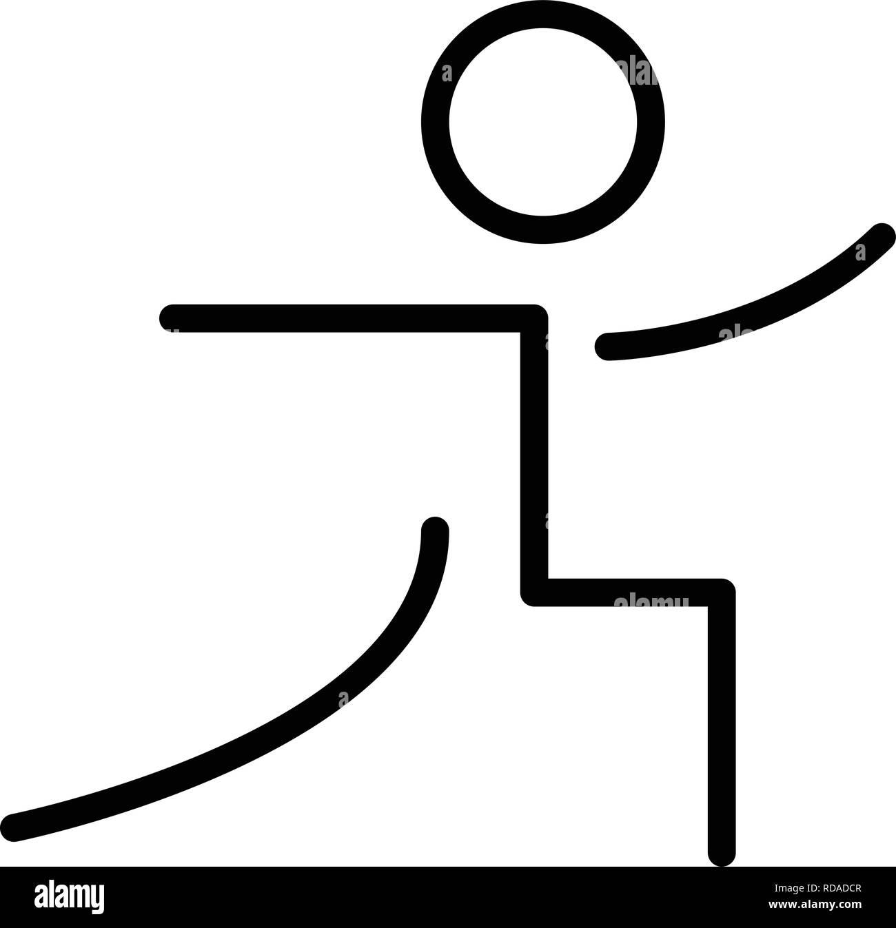Yoga Zeichen Symbol Vektor Illustration Für Den Privaten Und