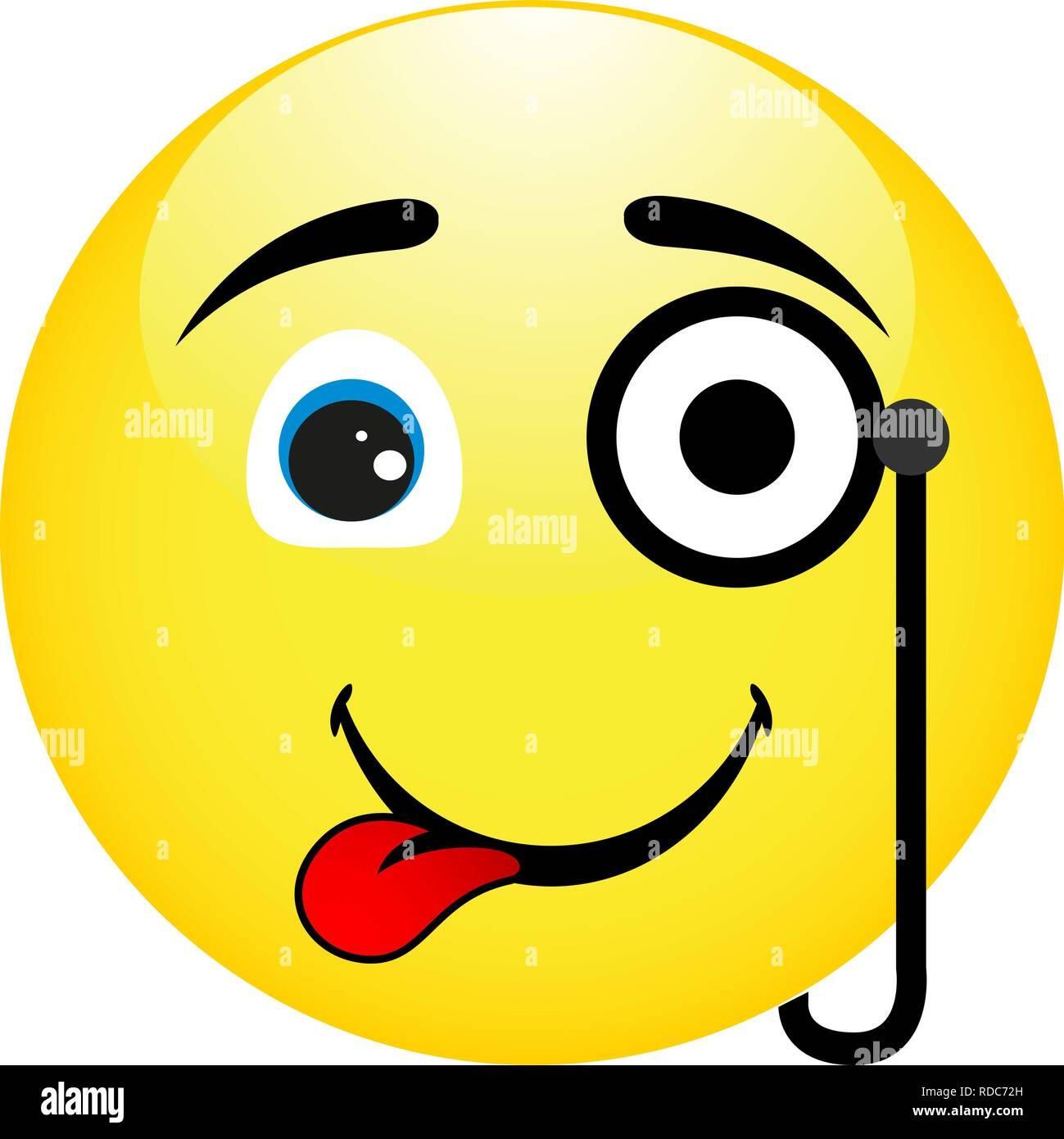 Smiley Mit Monokel