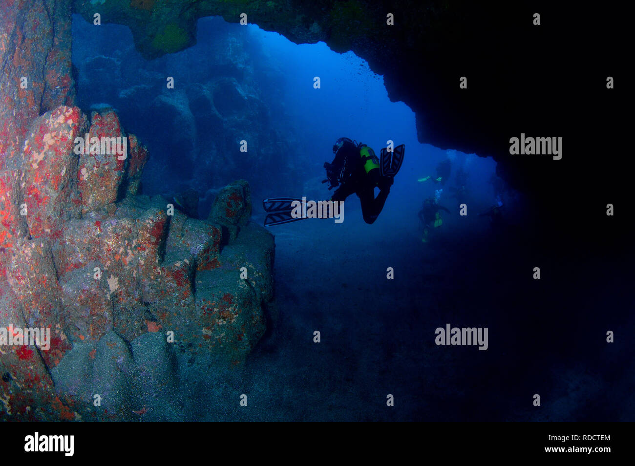 Tauchen n Teneriffa - Kanarische Inseln Stockbild