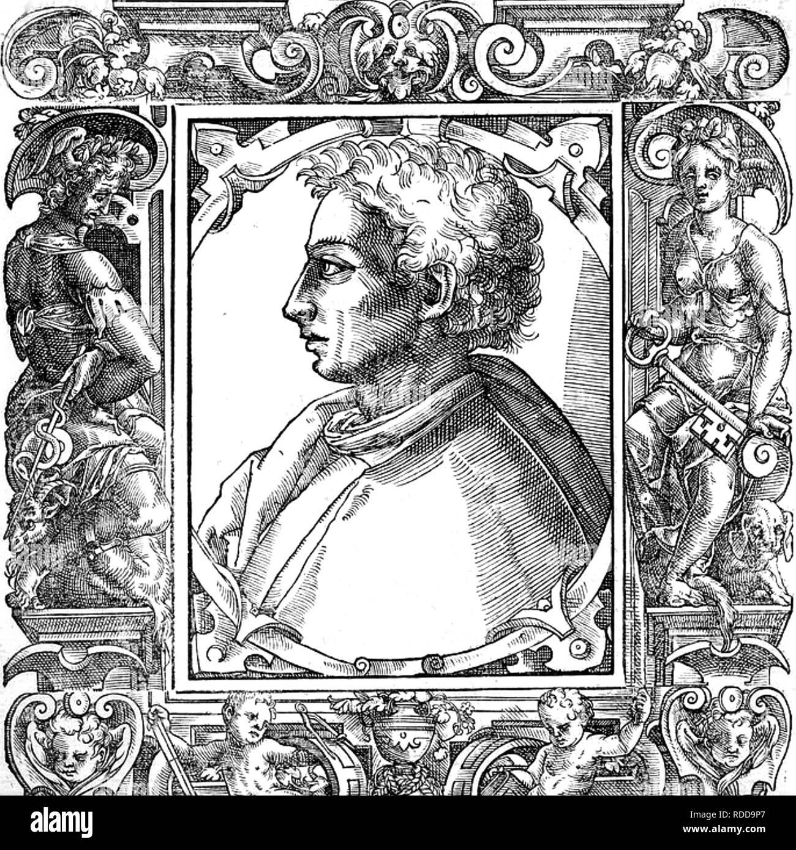 LEON BATTISTA ALBERTI (1404-1472), italienische Renaissance, Schriftsteller, Sprachwissenschaftler, Philosoph Stockbild