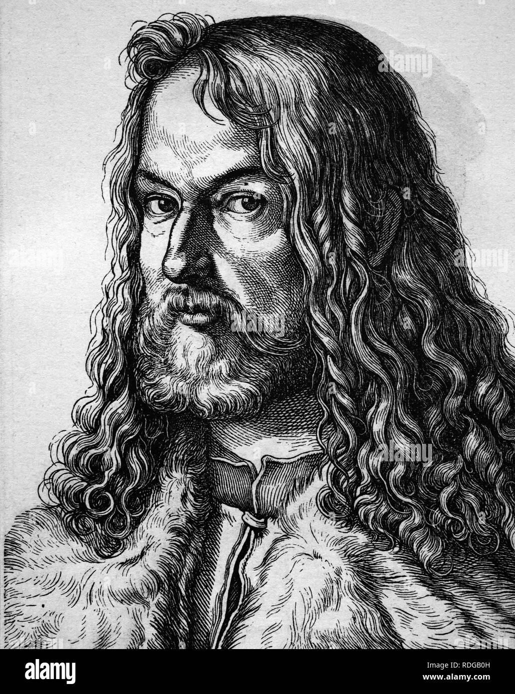 Albrecht Dürer, Maler, 1471 - 1528, historische Darstellung, Porträt, 1880 Stockbild