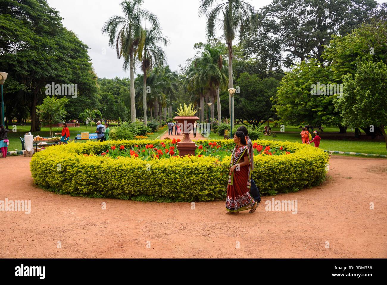 Lalbagh Botanical Gardens, Banaglore, Bangalore, Karnataka, Indien Stockbild