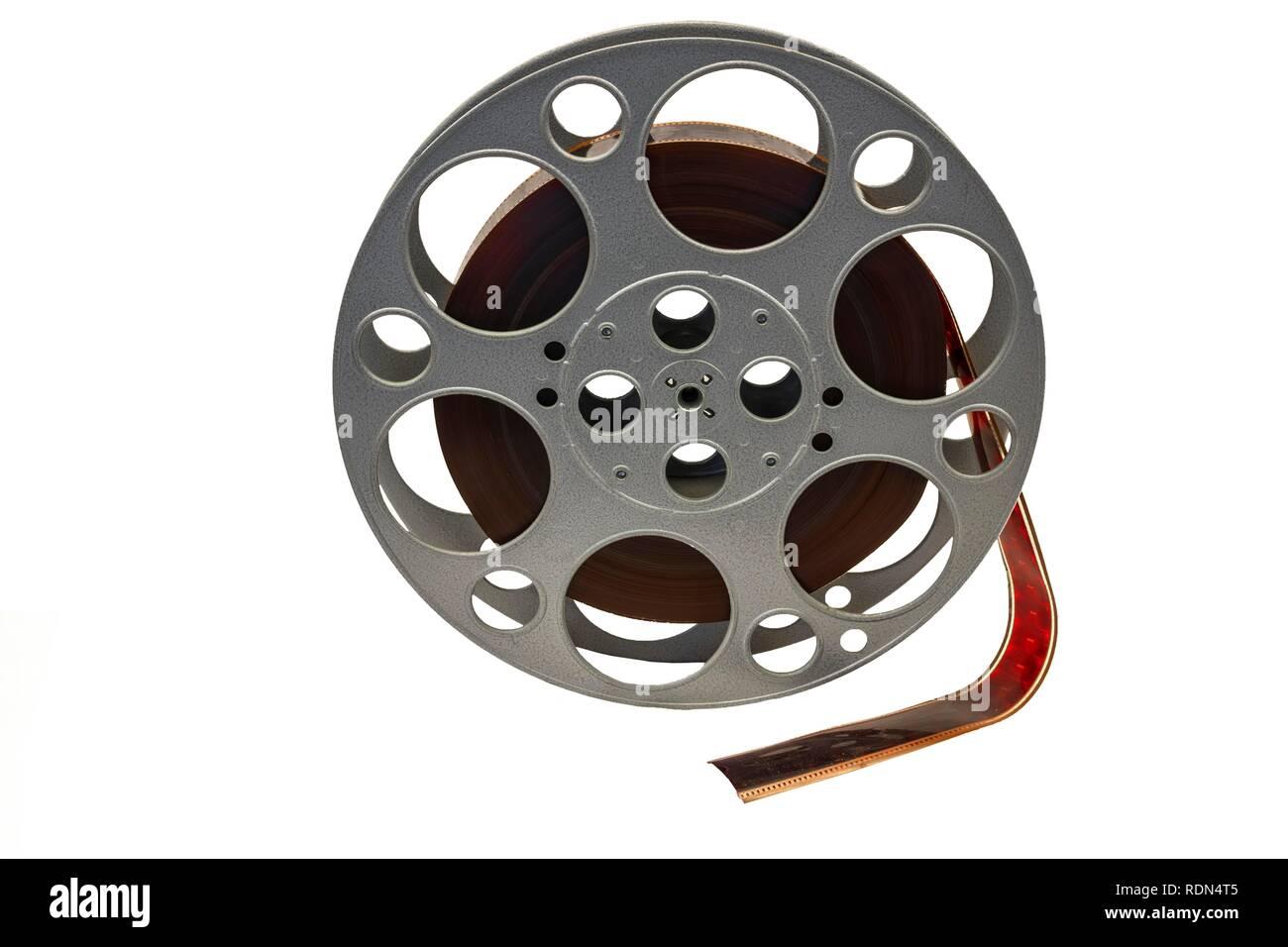 Filmrolle mit Film für Filme, Industrie Museum Lauf an der Pegnitz, Mittelfranken, Bayern, Deutschland Stockbild