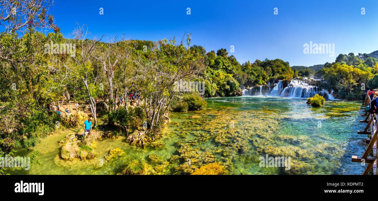 Krka, Nationalpark in Kroatien Stockfoto
