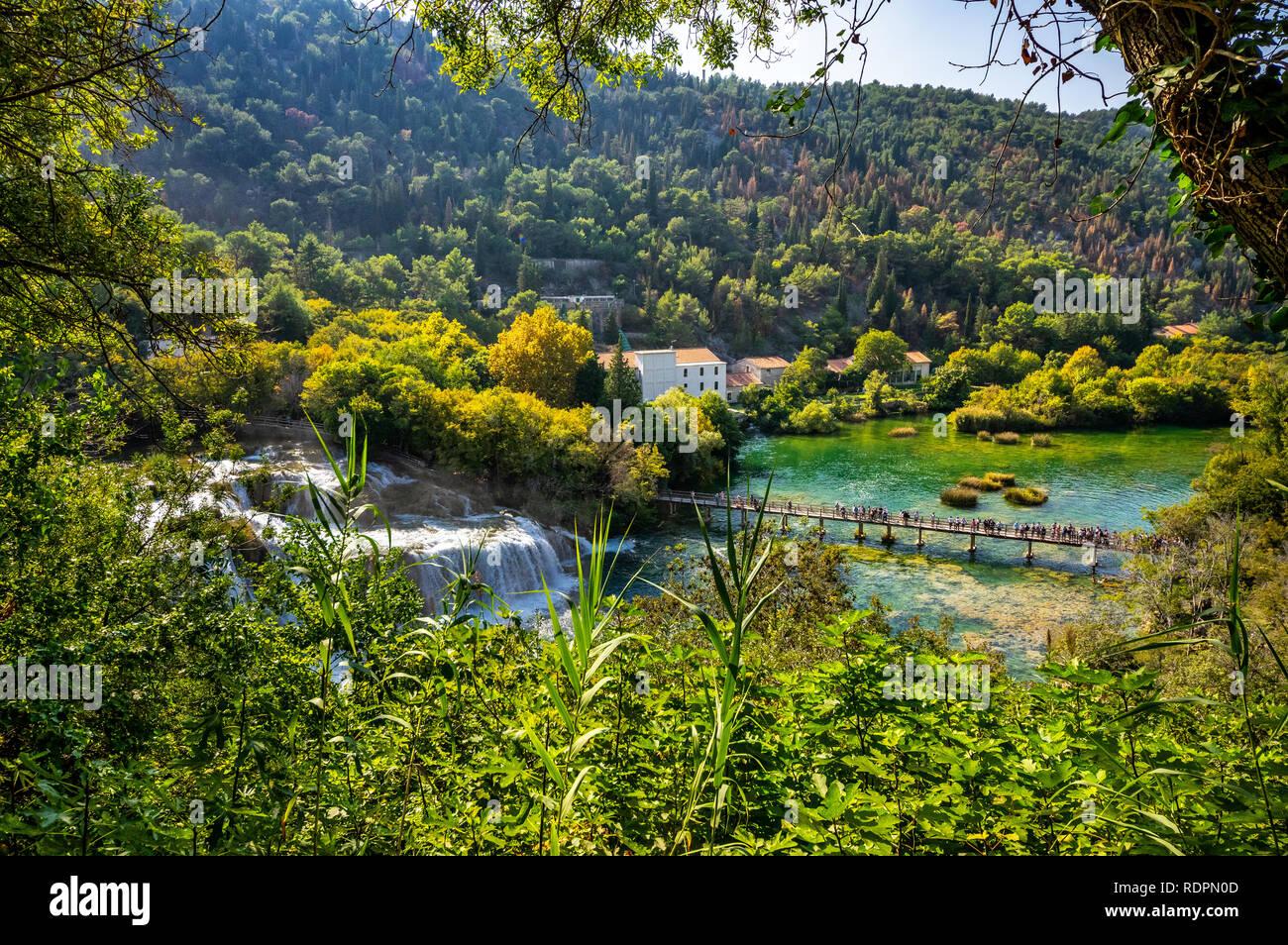 Krka, Nationalpark in Kroatien Stockbild