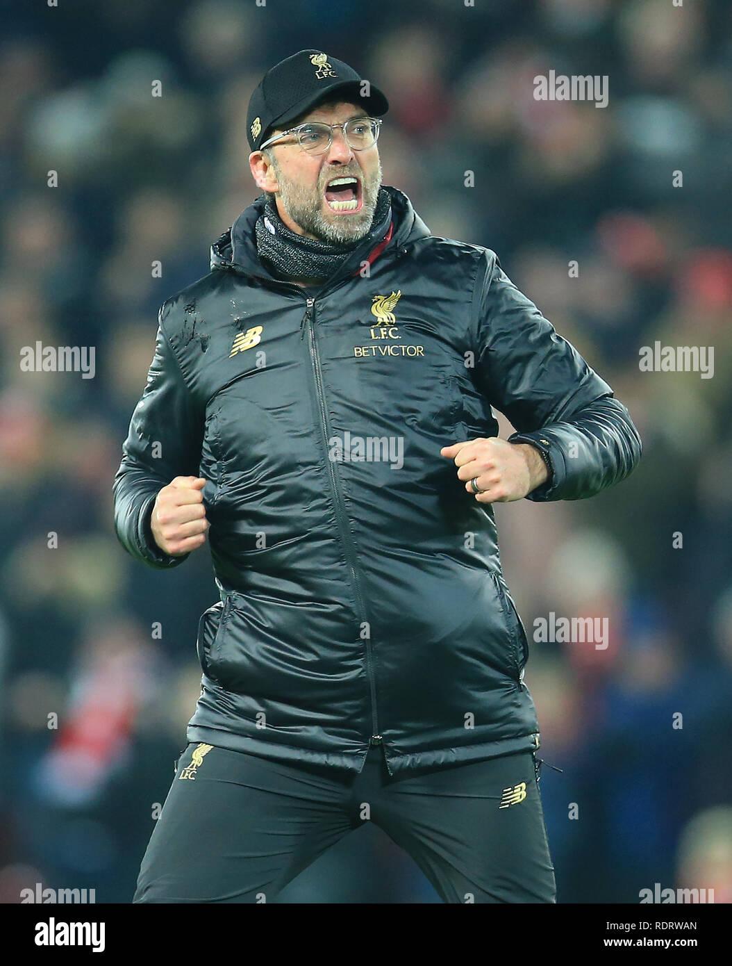 Anfield Liverpool Grossbritannien Jan 2019 19 Epl