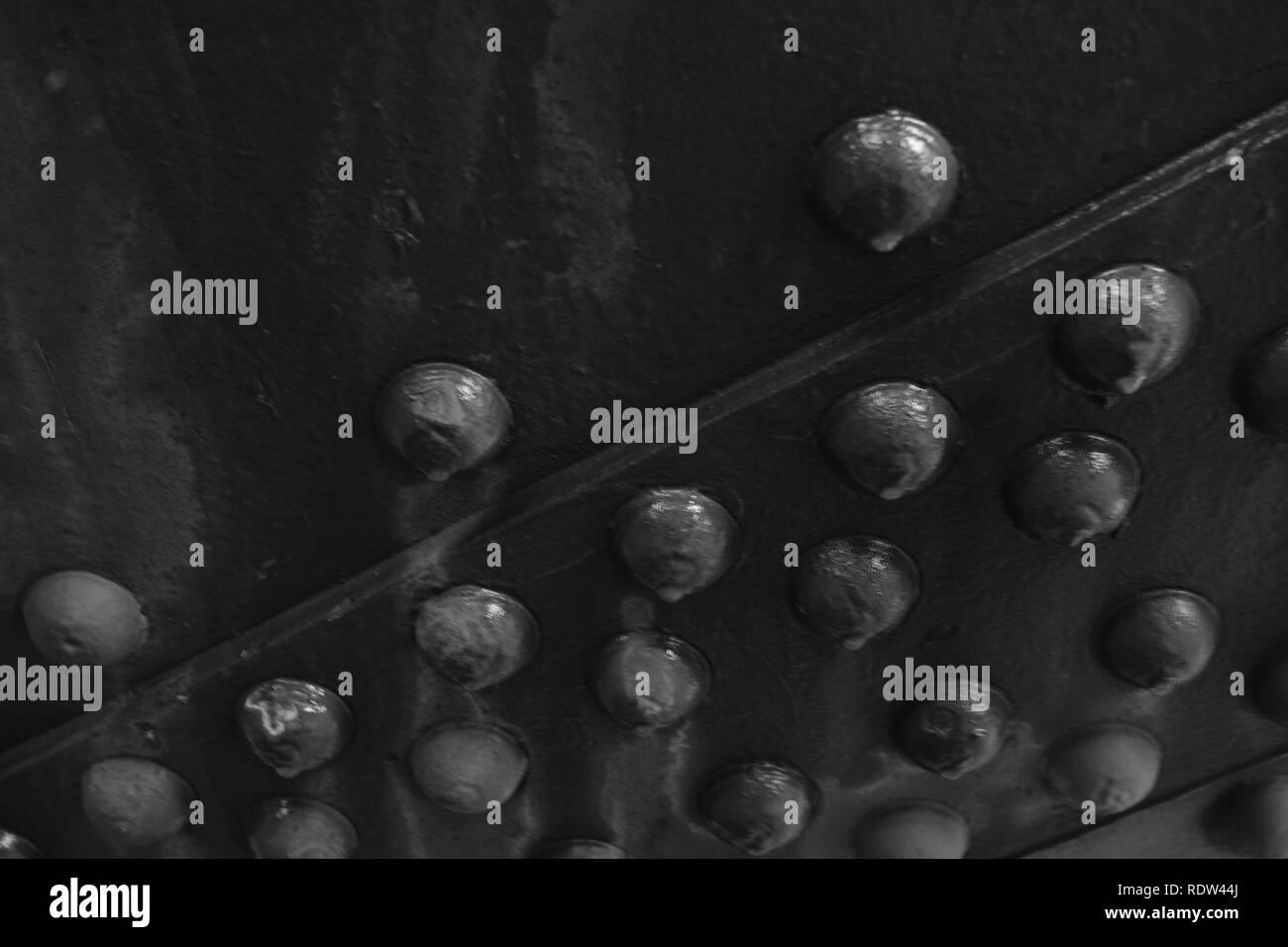 Niet Stahlbau Muttern und Schrauben Stockbild