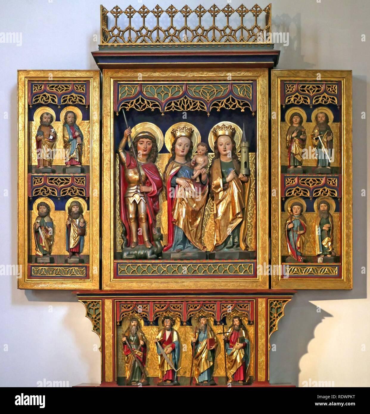 Apostelaltar. Sankt. Paulus. Moabit. 15. Jahrhundert. Stockbild