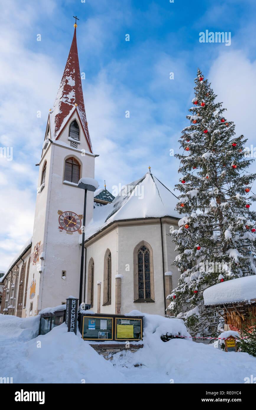 Weihnachten 2019 österreich.Seefeld österreich Januar 07 2019 Blick Auf Die Pfarrkirche St