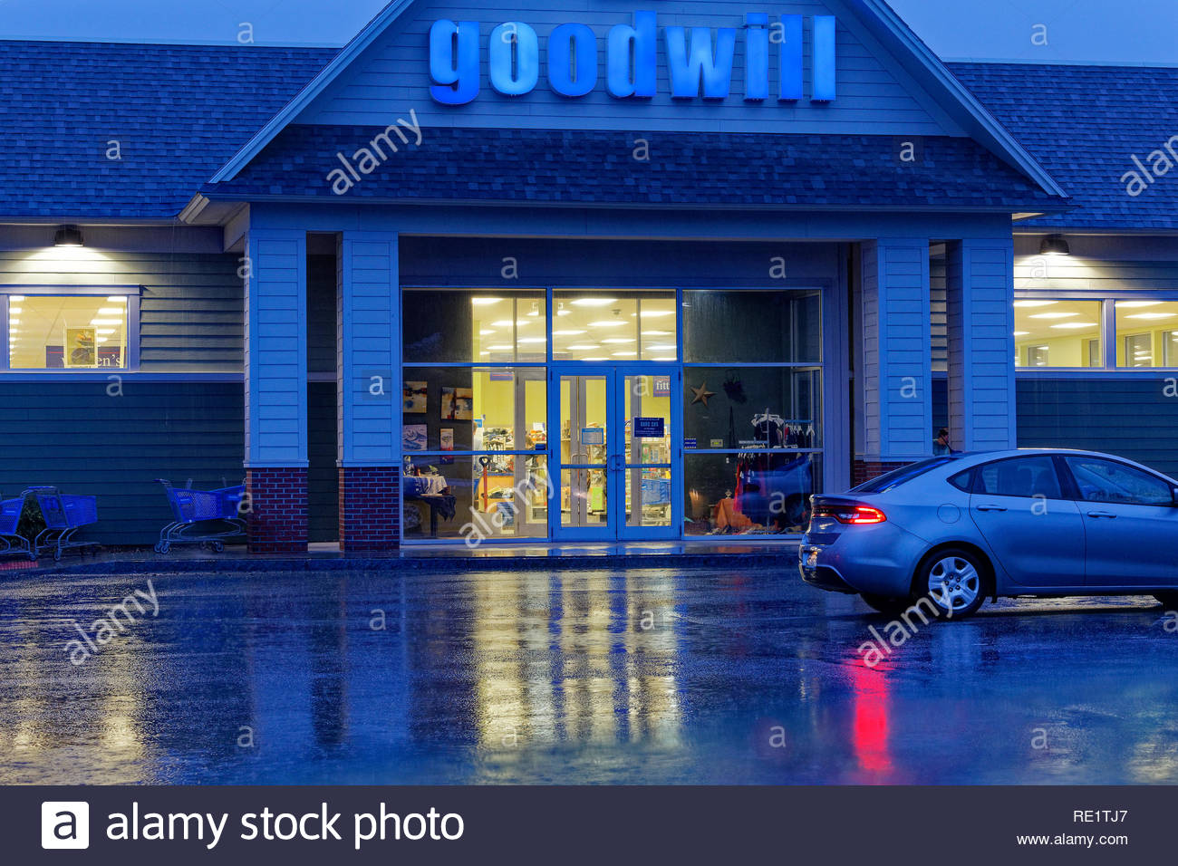 Goodwill store in Rockland, Maine, USA Stockbild