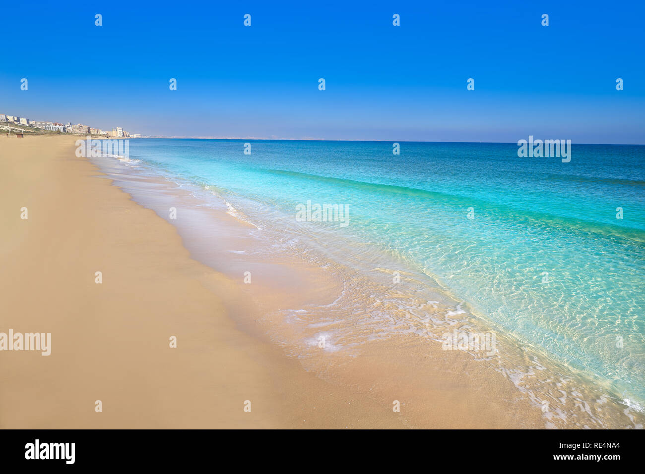 El Carabassi Strand In Elx Elche Alicante In Spanien An Der Costa