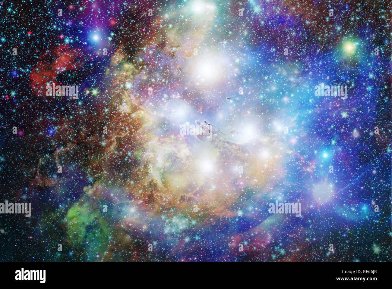 Zusammengesetzt aus verschiedenen Raum, Nebel und Sterne Bilder Stockbild