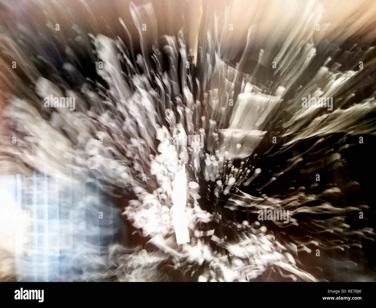 Abstraktion in der Art der Bewegung, Raum. Black Abyss Stockbild