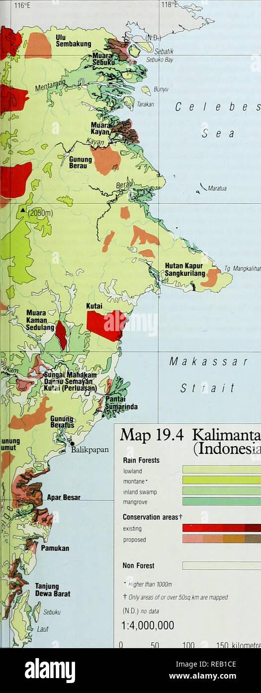 Indonesien Karte Physisch.Kalimantan Karte Stockfotos Kalimantan Karte Bilder Alamy