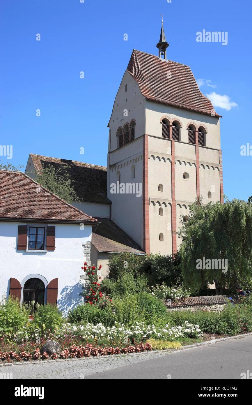 Munster An Die Jungfrau Maria Und Der Hl Markus Marienmuenster Abtei Von Reichenau Mittelzell Insel Reichenau Bodensee Gewidmet Stockfotografie Alamy