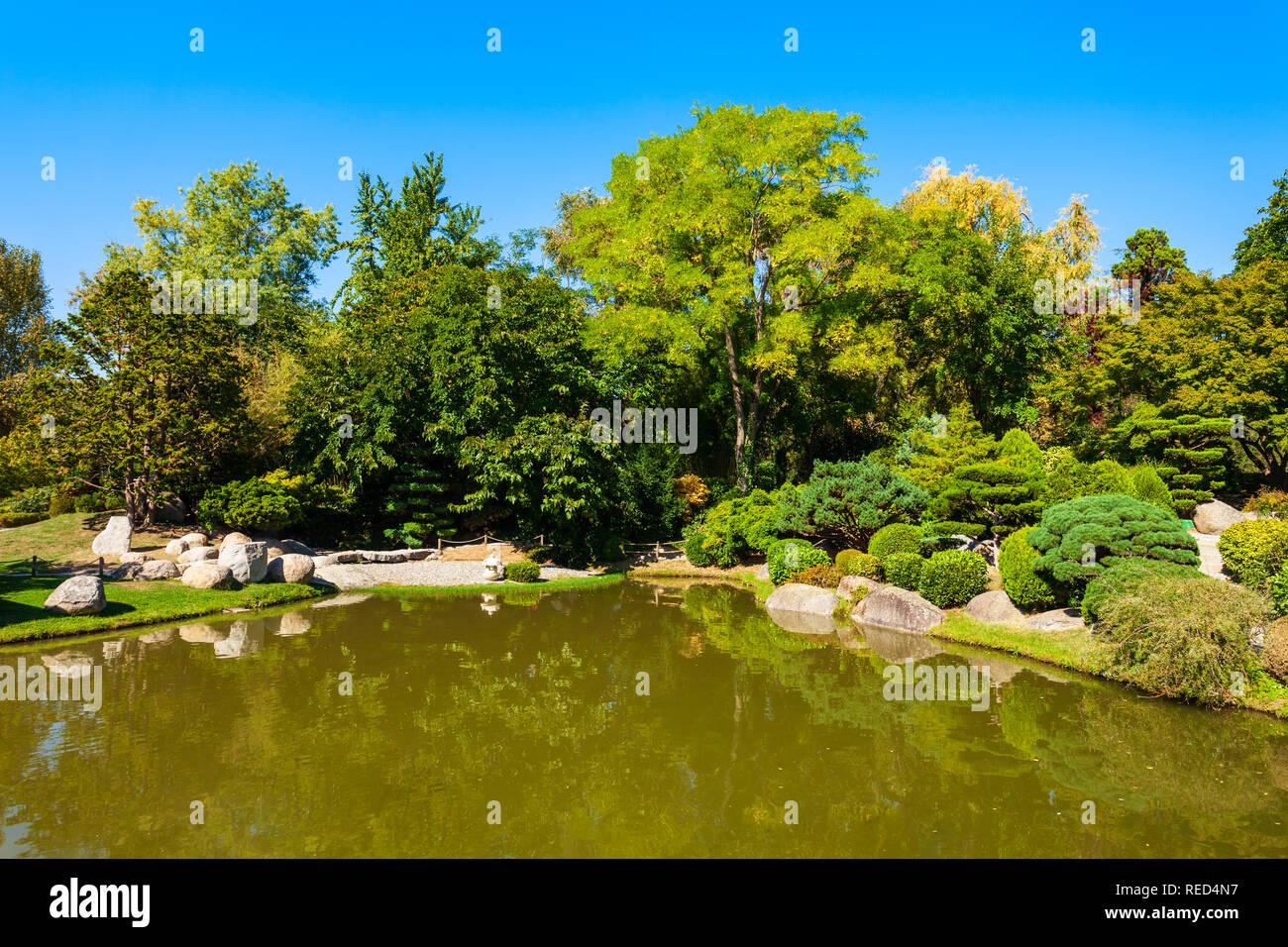 Jardin des Plantes ist ein botanischer Garten in Toulouse in ...