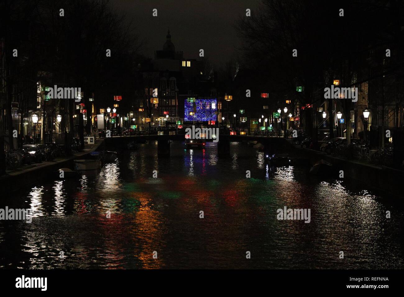 Licht Tour Amsterdam : Amsterdam niederlande januar amsterdam licht festival