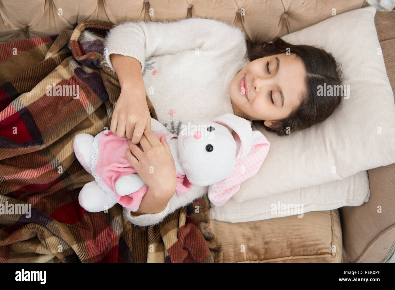 Kindheit Glück Gute Nacht Kleine Mädchen Süße Träume