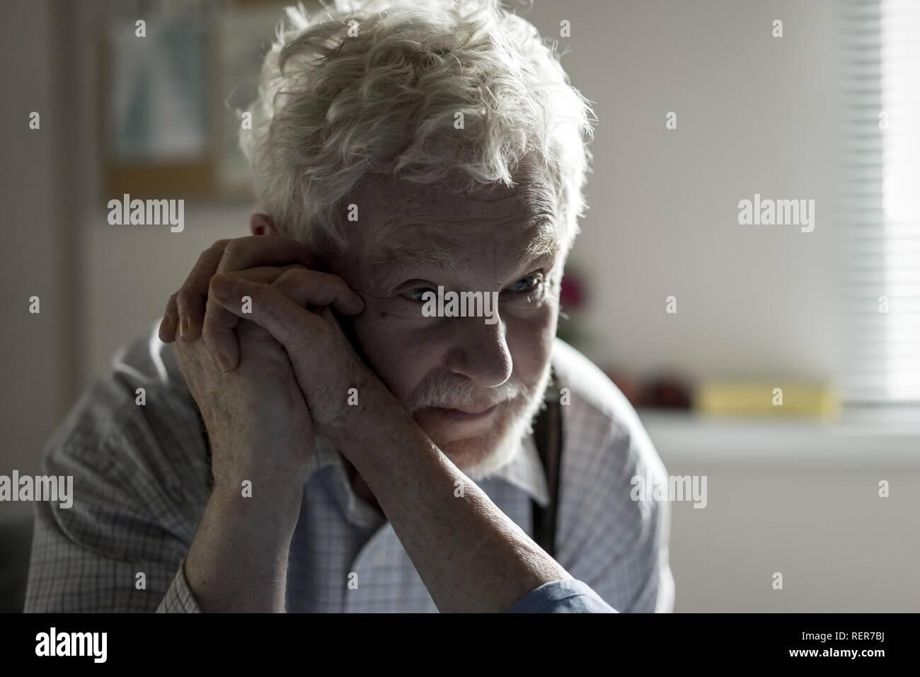 DEREK JACOBI DIE GESCHICHTE DER LIEBE (2016) Stockbild
