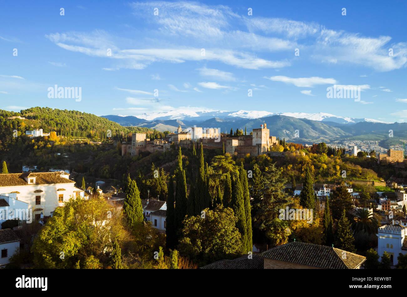Granada, Andalusien, Spanien: Unesco Weltkulturerbe Alhambra allgemeine Ansicht Stockfoto