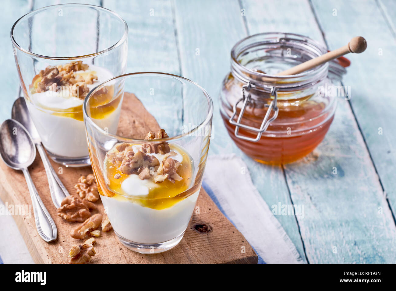 dessert mit griechischem joghurt
