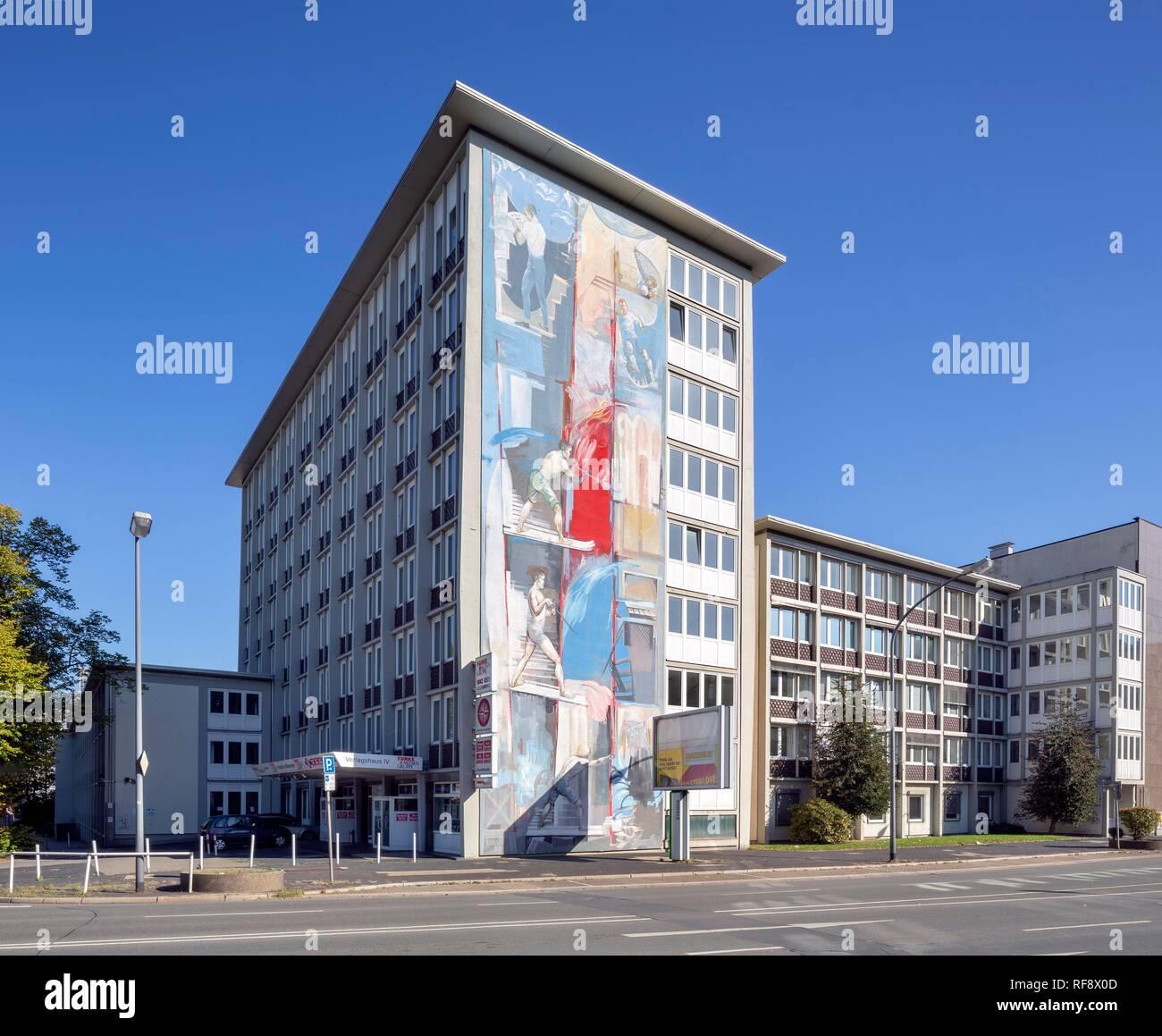 Verlag und Redaktion Gebäude Westdeutsche Allgemeine Zeitung, WAZ, Funke Media Group, Essen, Ruhrgebiet Stockbild