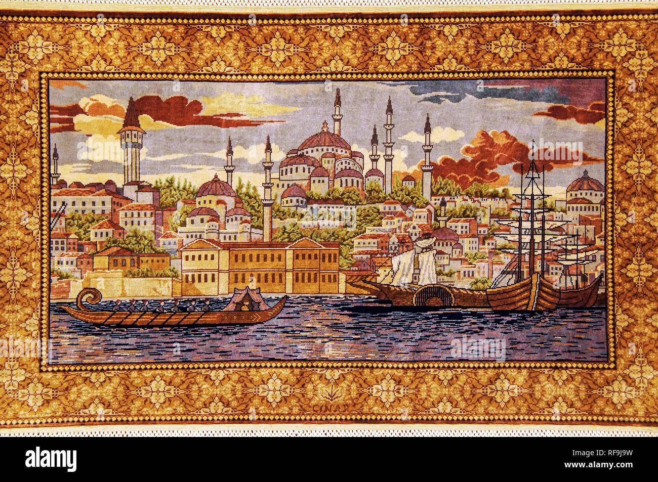 Türkische Teppiche in Avanos. Kappadokien, Anatolien. Türkei Stockfoto