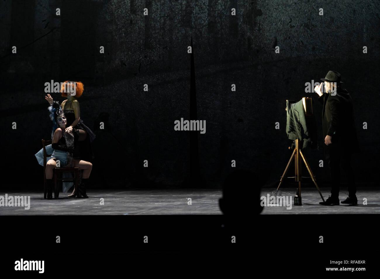Berlin Deutschland 23 Jan 2019 La Boheme Von Puccini Probe In