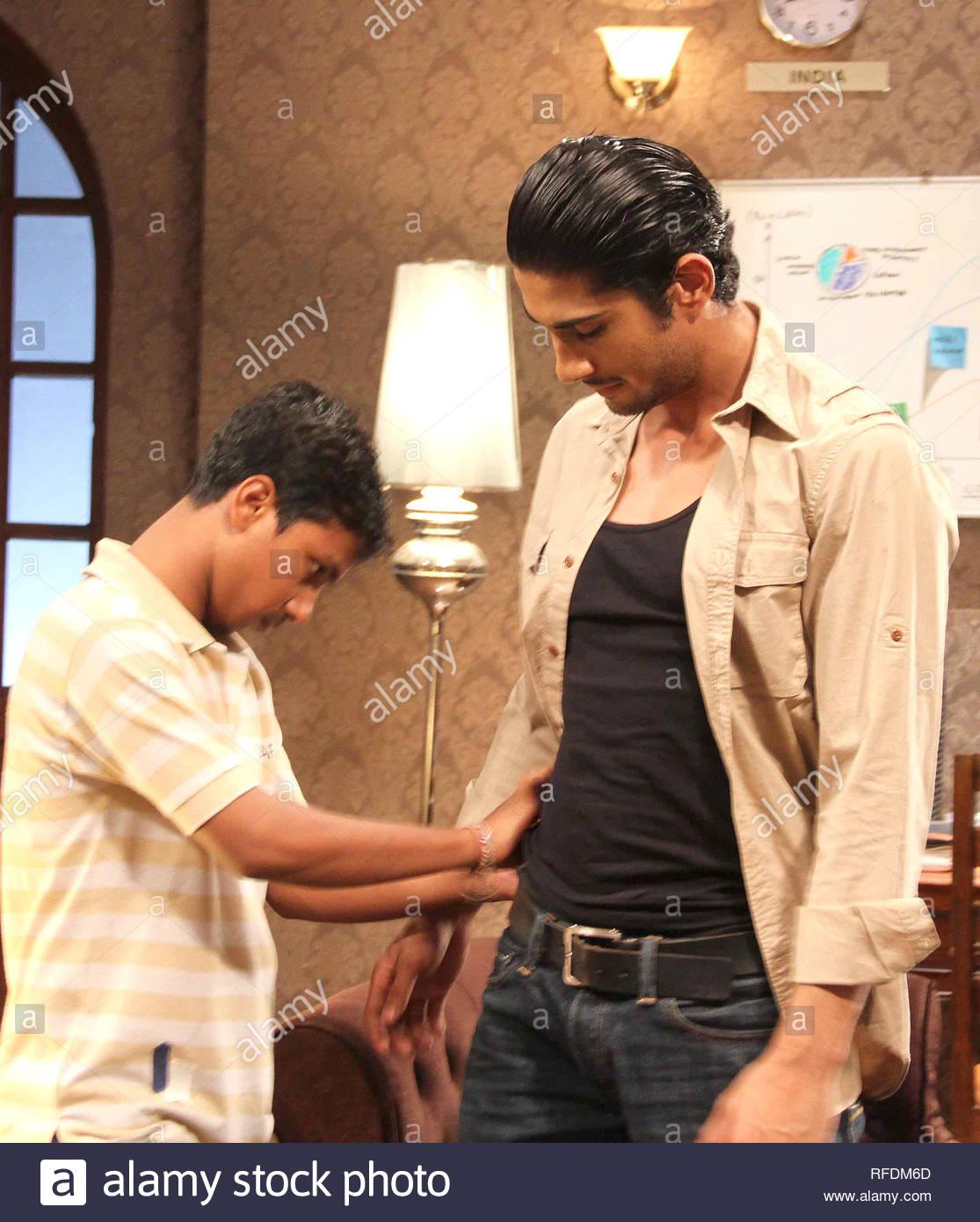 Bollywood Schauspieler Prateik Babbar während der Promotion