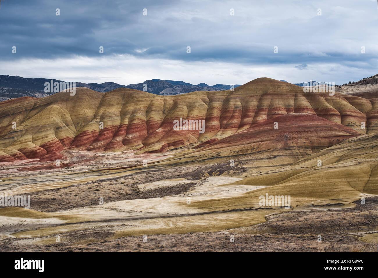 Foto der Painted Hills im Staat Oregon Stockfoto